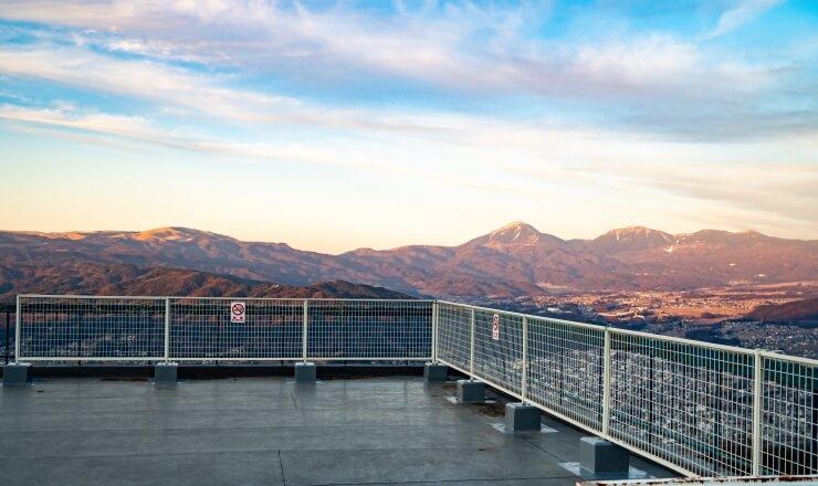 杖突峠から諏訪の眺望