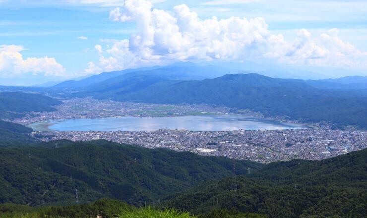 高ボッチ高原から見る諏訪湖